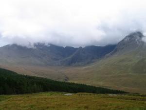 горы Куллин в Глен Бриттл, остров Скай