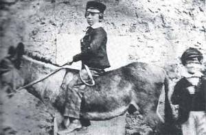 Роберт Льюис Стивенсон, 10 лет, на ослике в Северном Берике