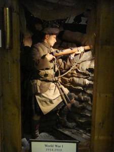 Инсталяция эпизода первой мировой войны