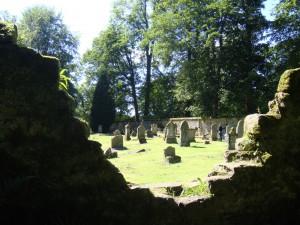 Кладбище около дворца в Сконе