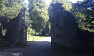 Арка ворот дворца в старом Сконе