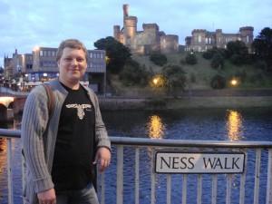 набережная реки Несс, с видом на замок, Инвернесс