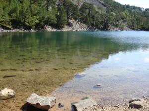 вода настолько чистая, что дно видно метров на 15