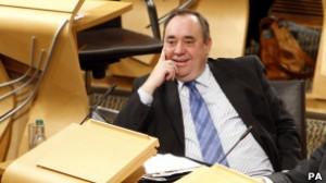 Лидер Шотландской национальной партии Алекс Салмонд