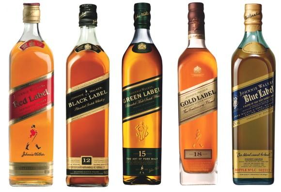 Коллекция купажированного виски johnny