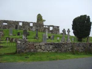 кладбище и церковь, поселение Стратайрд, остров Скай