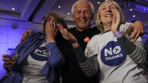 """Сторонники кампании """"Нет, спасибо"""", референдум об отделении Шотландии"""